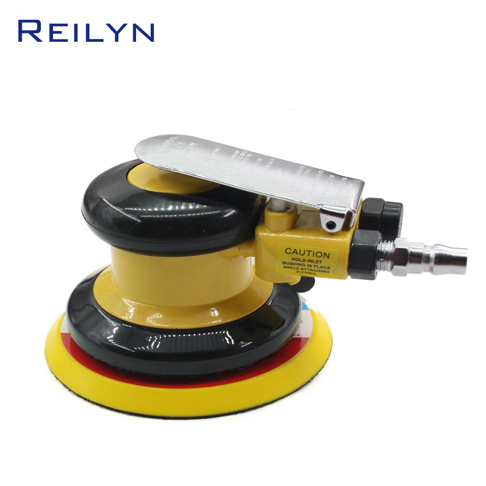 цена на high quality pneumatic polishing machine 5 pneumatic polisher tool Air sander 5 Polishing pad