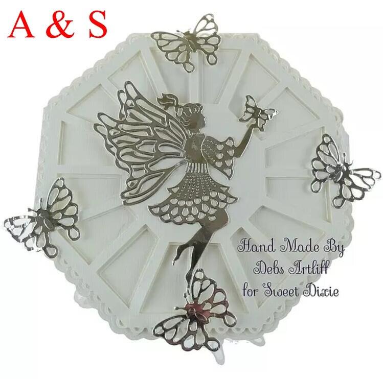 Bastel- & Künstlerbedarf Präge- & Stanzma. & Embossing Butterfly Wreath Card Cover Decor Metal Cutting Dies for Scrapbooking Album  X