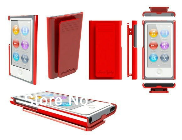 Free shipping High Quality Candy Color Belt Clip Case for Apple iPod Nano 7 with Retail package Free screen protector ...