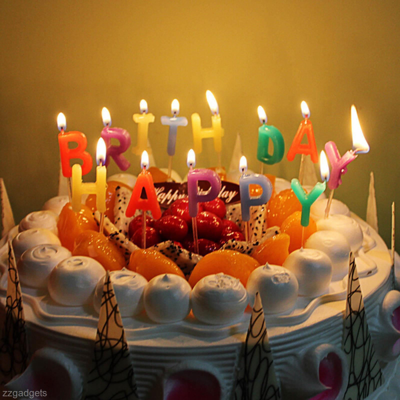 Amazing colorful glitter happy birthday candles new design