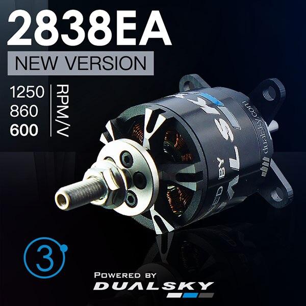 New Arrival DUALSKY XM2838EA 10 1250KV V3 Outrunner Brushless Motor for RC Airplane