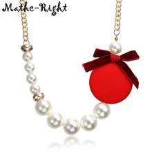 2f3faf0f755b De las mujeres simulado collar de perlas para las mujeres con arco nudo  collares y Colgantes Nueva joyería de moda para regalos .