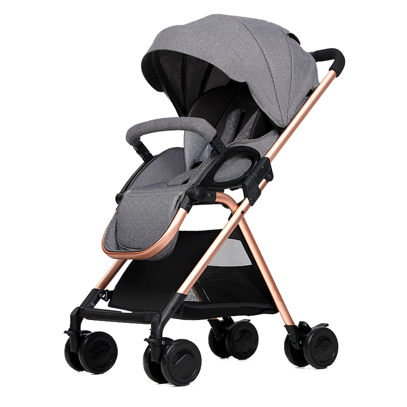 Baby carriage lightweight folding ultra-light baby stroller seated reclining umbrella high landscape trolley mikado фасоль с грибами по тоскански 450 г