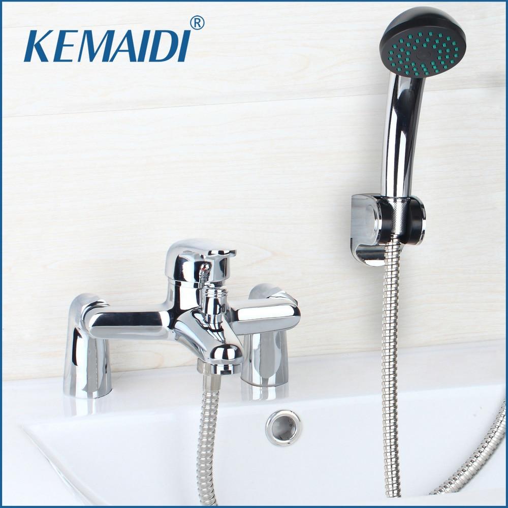 KEMAIDI  Bathroom Shower Faucet Set Rainfall Bathtub Shower banho de banheira Mixer Brass Shower Bath with Hand Shower