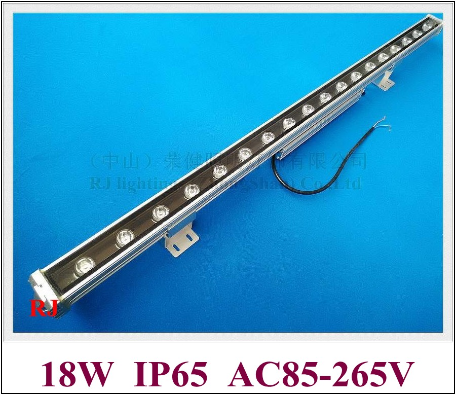 new design Luxurious external driver 18W LED wall washer light lamp staining light bar light floodlight AC85-265V aluminum