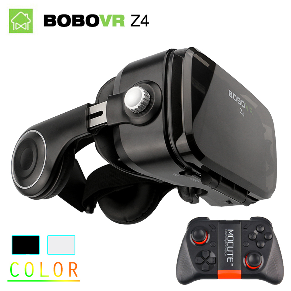 Original BOBOVR Z4 3D Virtual Reality VR Glasses Headset Stereo Box BOBO VR for Smartphone with Remote virtual reality goggle 3d vr glasses original bobovr z4 bobo vr z4 mini google cardboard vr box 2 0 for 4 0 6 0 inch smartphone