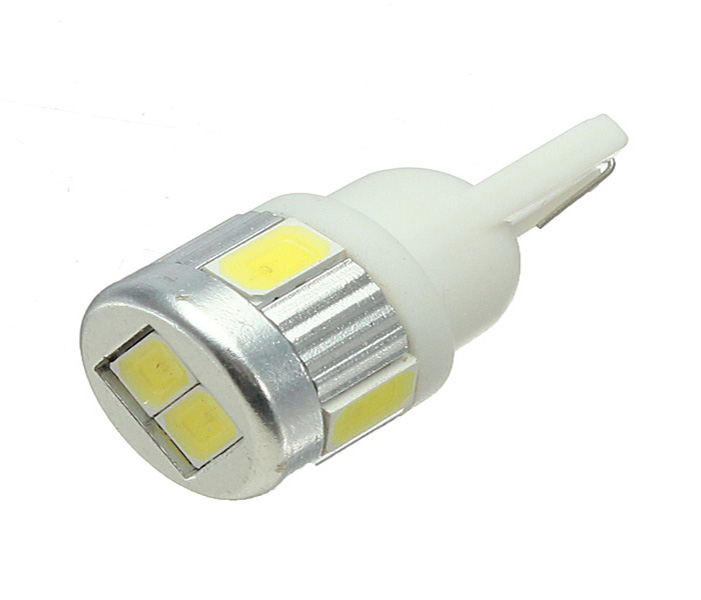 Hot Selling T10 W5W 194 168 6 LED 5630 SMD Pure White Car Auto Turn Signal Wedge Side Parking Lights Bulb Lamp