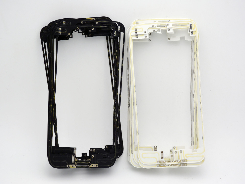 Whole Sale 5pcs/lot New Black White Front Bezel with hot glue for iPhone 6s 4.7 inch LCD Middle Frame Housing Parts Replacement