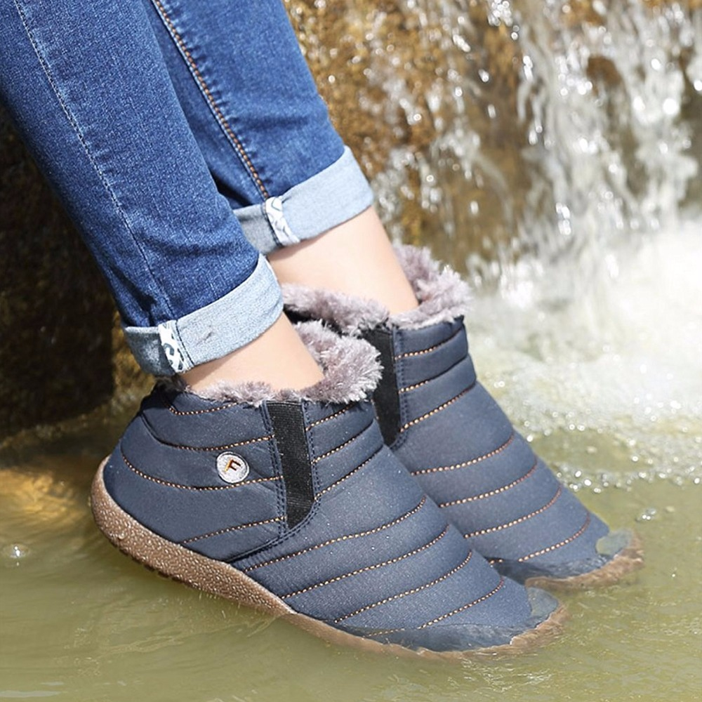 2016 New Mens Fur Lined Boots Men Winter Snow Shoes