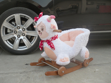 baby rocking horse,Sheep rocking chair dual-use baby bassinet with music,children rocking toy