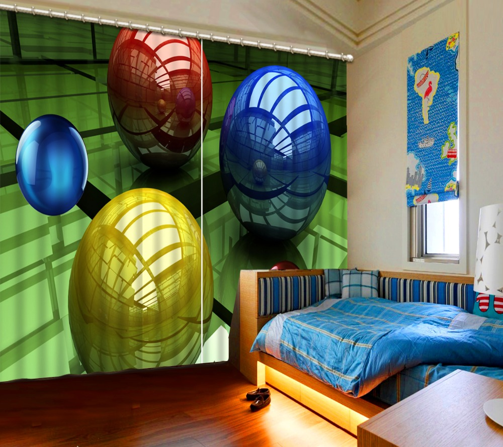 Blackout Curtains Living Room Three-dimensional sphere Cortians Window Curtain 3D Curtains for bedroomBlackout Curtains Living Room Three-dimensional sphere Cortians Window Curtain 3D Curtains for bedroom