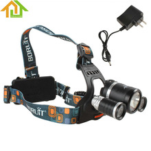 JR-3001 5000LM 1X CREE XM-L T6 LED & 2X CREE XP-G R5 LEDs Super Bright Headlamp with 4 Modes