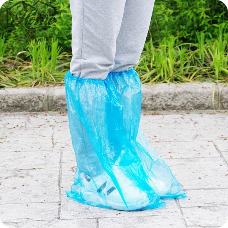 5 Pairs Reusable Waterproof Plastic Rain Shoes Cover Women Men Children Thicken Boot Cycle Rain Flat Slip-resistant Overshoes