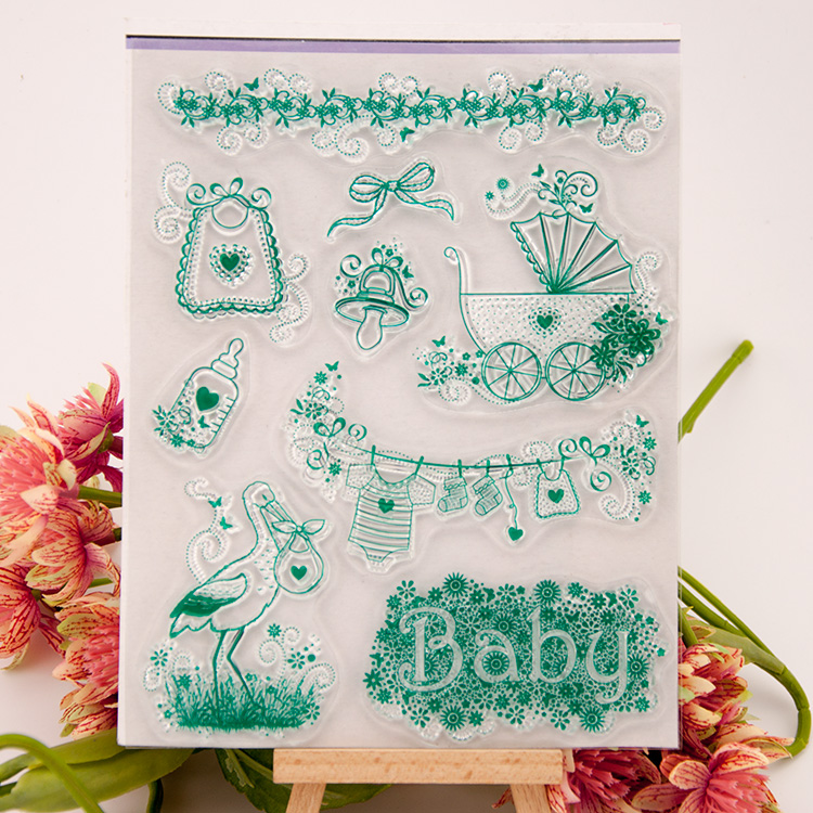 scrapbook 14*18cm  ACRYLIC baby clear STAMPS carimbo timbri stempel SCRAPBOOKING stamp scrapbook 14 18cm love design acrylic clear stamps carimbo timbri stempel scrapbooking stamp