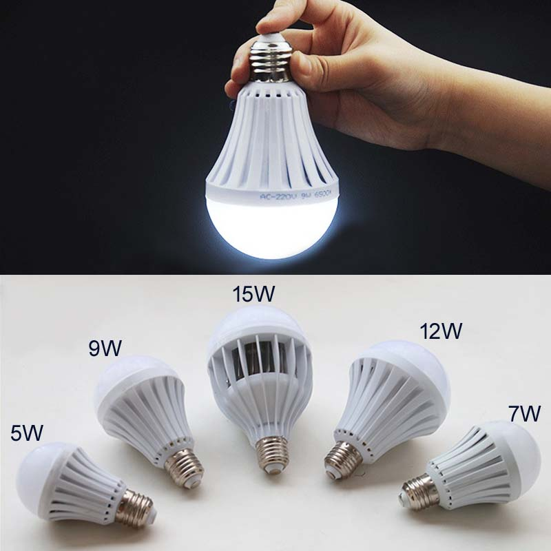 Us 6 99 Smart Led Light Bulb 220v 5w 7w 9w 12w 15w Emergency Rechargeable Battery Lighting Lamp For Home Indoor Corridor In Bulbs S From