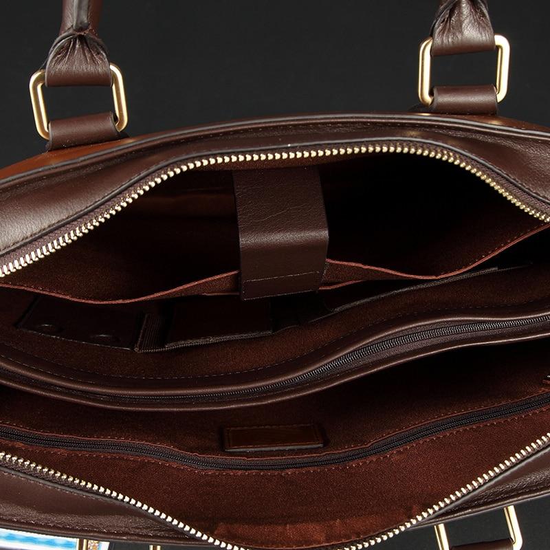 Marke ''laptop Schulter Geschäfts Leder Brown Tasche Echtes Aktentasche 14 black Messenger Männer Luxus Qualität Handtaschen Hohe Braun d4wOdqz