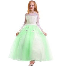 2019 New Children Girls Dress Spring Princess Photography Costume Kids Dress Butterfly Tulle Lace Trailing Long Dress for Girls