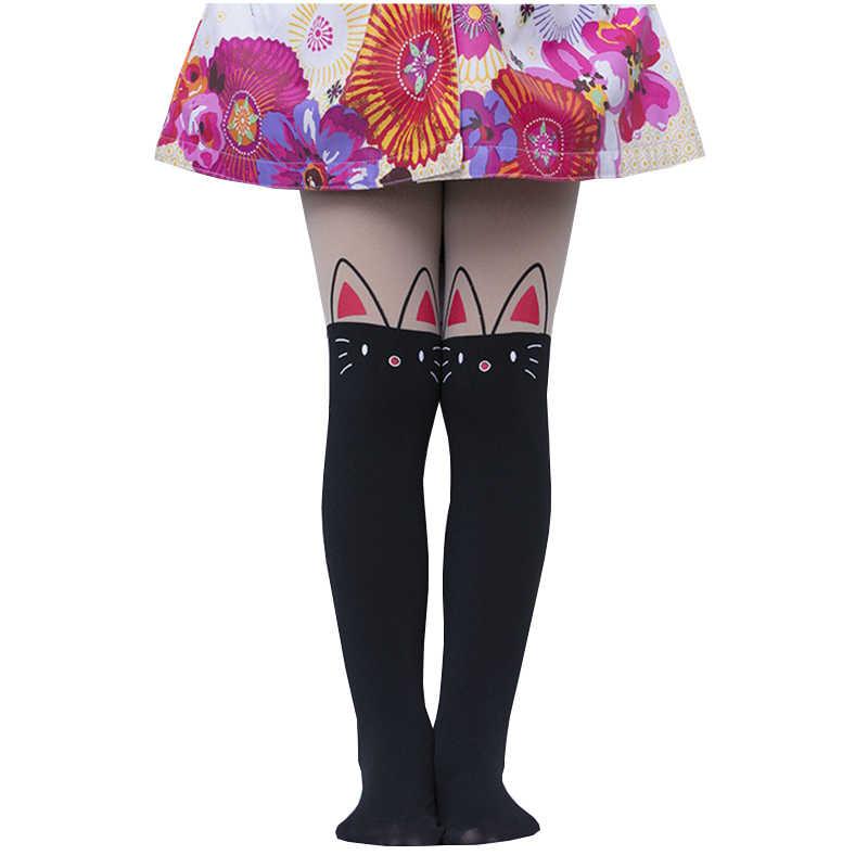 4db147aab Fashion Baby Girls Cartoon Stockings Tight Solid Cute Silk Designs Children  Girls Kids Stockings Pantyhose 7