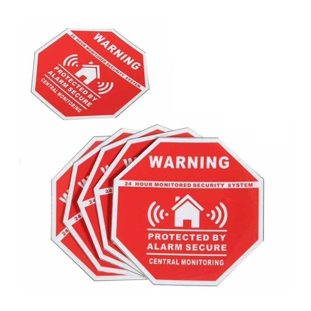 Cewaal 10 шт. 7.5*7.5 см Главная охранной сигнализации Системы Предупреждение знак Стикеры Наклейка окна, двери виниловая наклейка