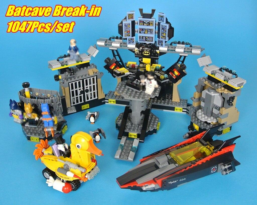 Lepin 07052 super heroes movie blocks Batcave Break-in toys for children model building blocks Compatible batman 70909 christmas
