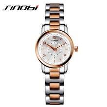 Nueva SINOBI Mujeres de China Marca de Cuarzo Reloj de Las Señoras de la Astilla Fashion Business Relojes De Plata Femenina de Oro Rosa Reloj de Pulsera de Acero