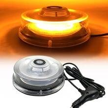 Ambre LED Lumière Stroboscopique Balise Véhicule Toit De Voiture D'avertissement Flash D'urgence Lumières Clignotant Clignotant Sécurité Lampe de Signalisation