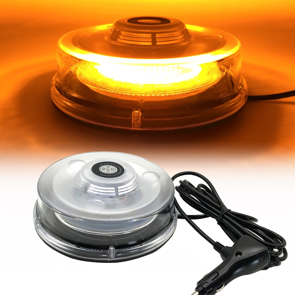 Amber LED Strobe Light Beacon Vehicle Car Roof Top Hazard Warning Flash Emergency Lights Rotating Flashing Safety Signal lamp