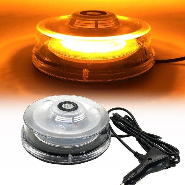 Amber LED çakarlı lamba Beacon araç araba çatı üst tehlike uyarı flaş acil durum ışıkları dönen yanıp sönen emniyet sinyal lambası
