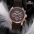 Мужские модные бизнес-часы HAIQIN  повседневные водонепроницаемые часы в стиле милитари с кожаным ремешком  кварцевые часы  2019
