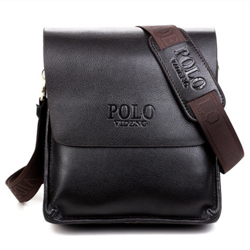 Mens Messenger Bags High Quality Famous Brand Design Men Shoulder Bag Casual Business Leather Vintage Fashion Polo Crossbody Bag high quality casual men bag