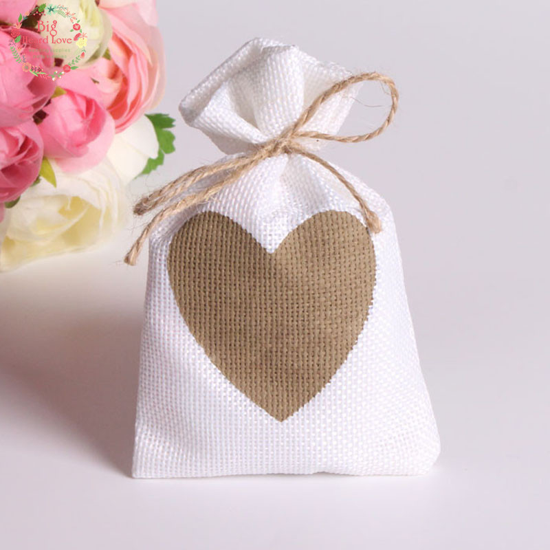 50pcs 9x14cm Love Heart Candy Bags Gift Bags Sacks Baby Shower Birthday Party Favors Package Wedding Candy Bags Party Supplies