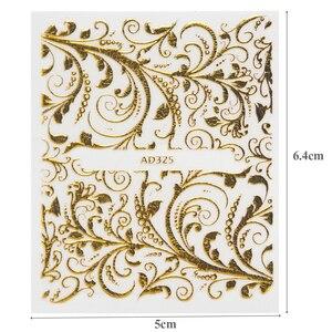 Image 5 - 20แผ่นทอง3dสติกเกอร์เล็บสติ๊กเกอร์Decalsแบบผสมกาวดอกไม้ตกแต่งเล็บSalonอุปกรณ์เสริมLAAD301 326