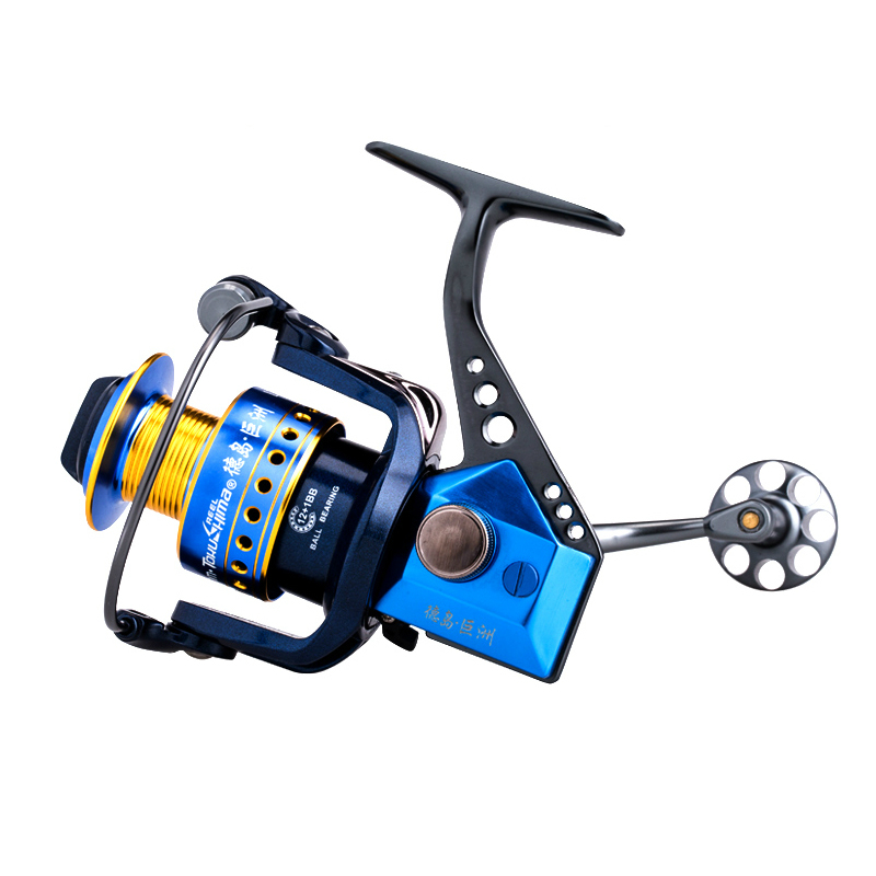 Tokushima LZ series Fishing Reel Spinning Fishing Reel Full Metal 12+1 Ball Bearings Gear Ratio 4.9:1/5.5:1 Fishing Tackle russian style spinning fishing reel red wheel max drag 6kg 5 2 1 gear ratio 9 1bb ball bearings fishing tackle free spoon