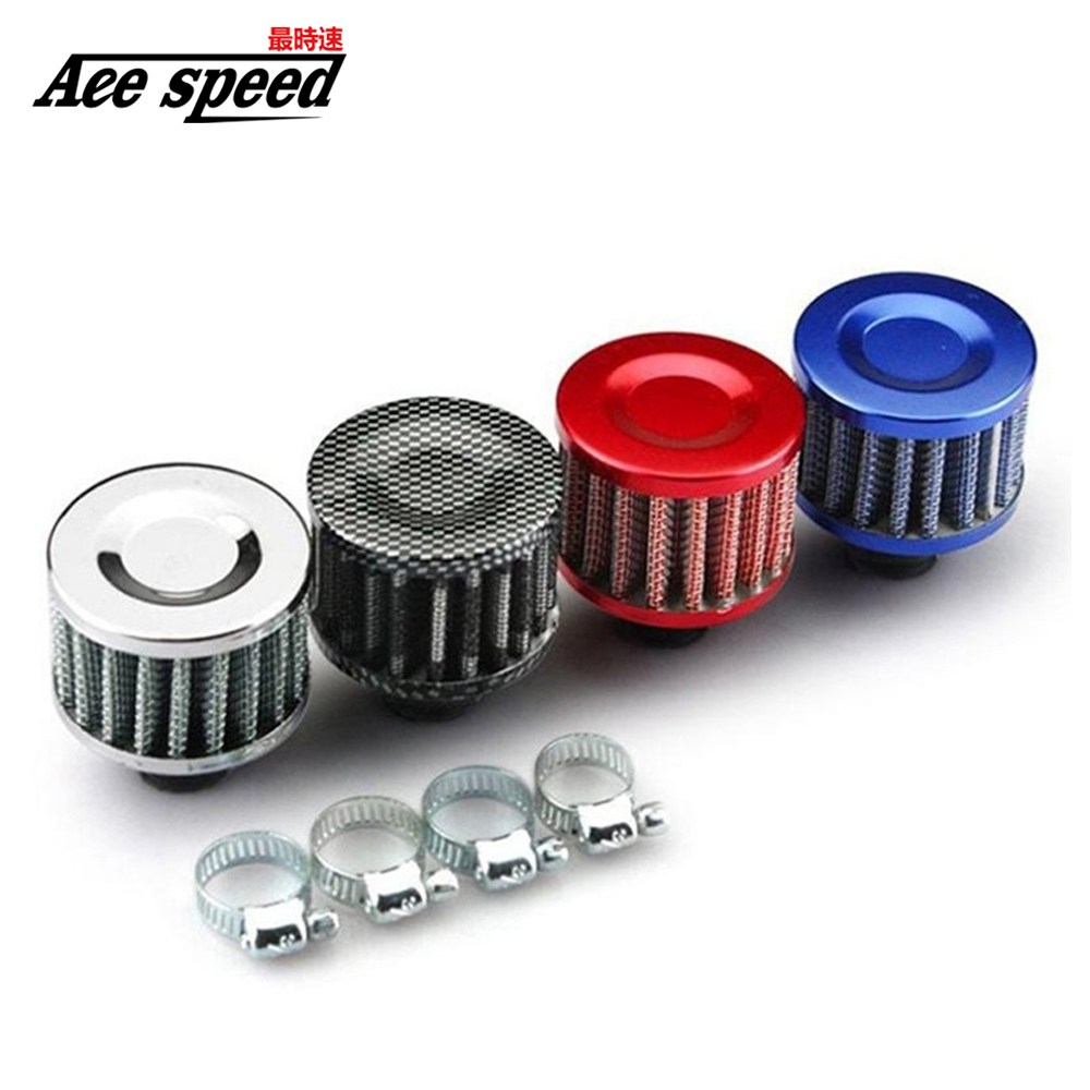 Universal 12mm Motorcycle Oil Cold Air Intakes For Cars Filter Kit Crank Case Vent Cover Breather