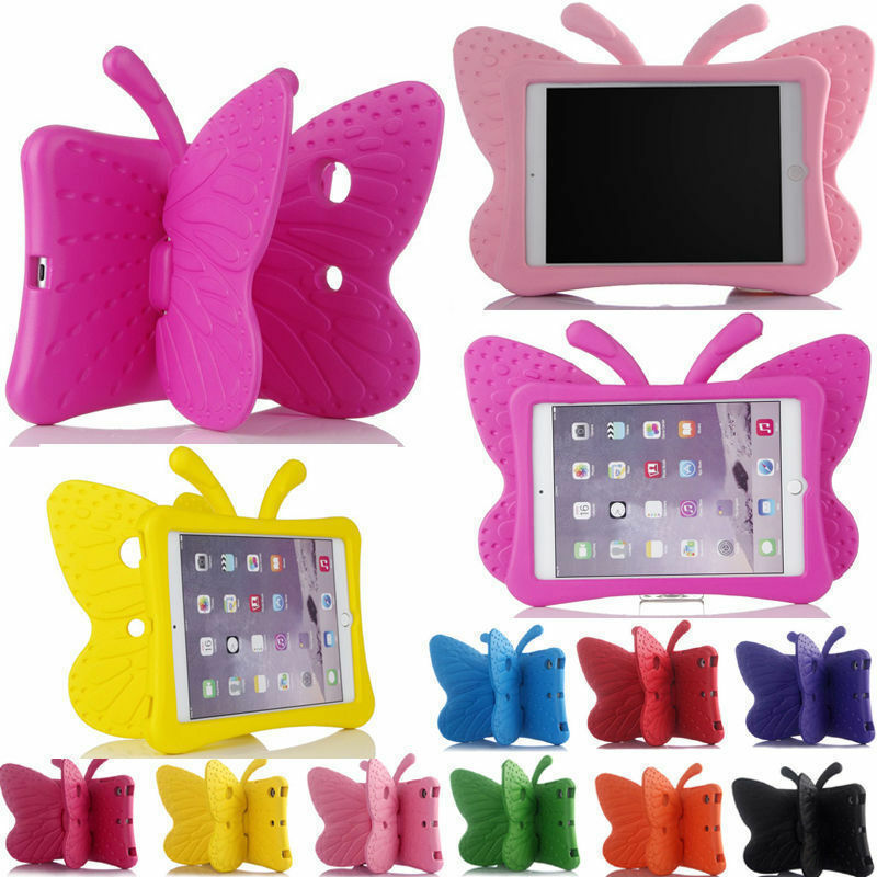 XSKEMP Cartoon Tablet Protective Shell For <font><b>Samsung</b></font> <font><b>Galaxy</b></font> <font><b>Tab</b></font> <font><b>3</b></font> 7.0 T210 <font><b>T211</b></font> Kids EVA Butterfly Shockproof Stand Case Cover image