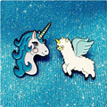 Fashion accessories childhood Cartoon animal unicorn brooch brooch garment accessories deserve to act the role of popular brooch