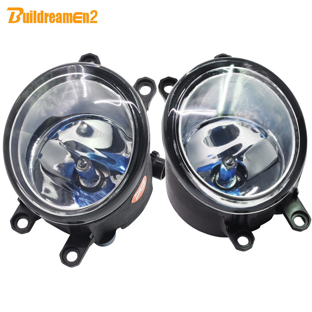 For Toyota Tacoma Venza Avensis Verso Camry Highlander Corolla Matrix 2 Pieces 100W Car Styling Halogen Fog Light 12V High Power bluetooth link car kit with aux in interface for toyota corolla camry avensis hiace highlander mr2 prius rav4 sienna yairs venza