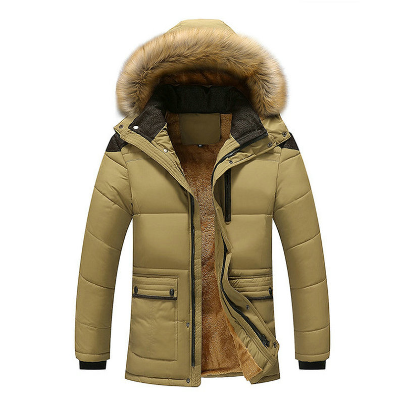 2018 Hot Hooded Mens Winter Jackets Parka Casual Warm Winter Coat Men