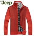 JEEP 2016 Warm thick velvet cardigan sweater men winter tops stand collar people wear loose-fitting sweater 62