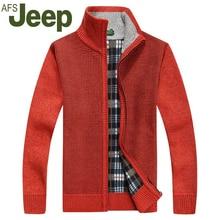 Jeep 2016 warme dicke samt strickjacke männer winter tops stehkragen menschen tragen locker sitzende pullover 62