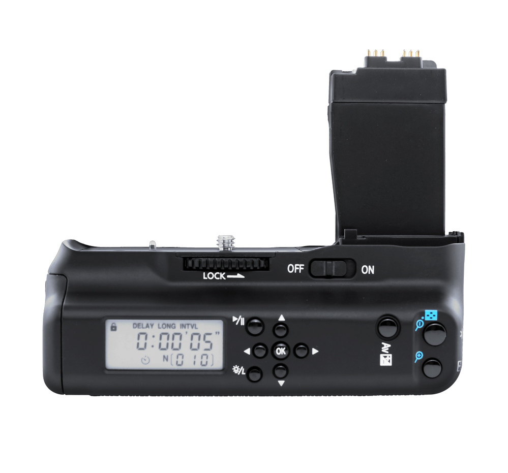Prix pour MeiKe MK-550D POIGNÉE de MK 550D LCD MK-550DL Batterie Grip Minuterie Batterie Holder Grip pour Canon 550D 600D 650D 700D/Rebel T2i T3i T4i T5i