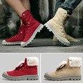Осень Зима Случайные Сапоги Плюс Плюшевые Теплые Мужчины Хлопок Обувь Любителей Снега Сапоги Ботинки Пустыни Сапоги