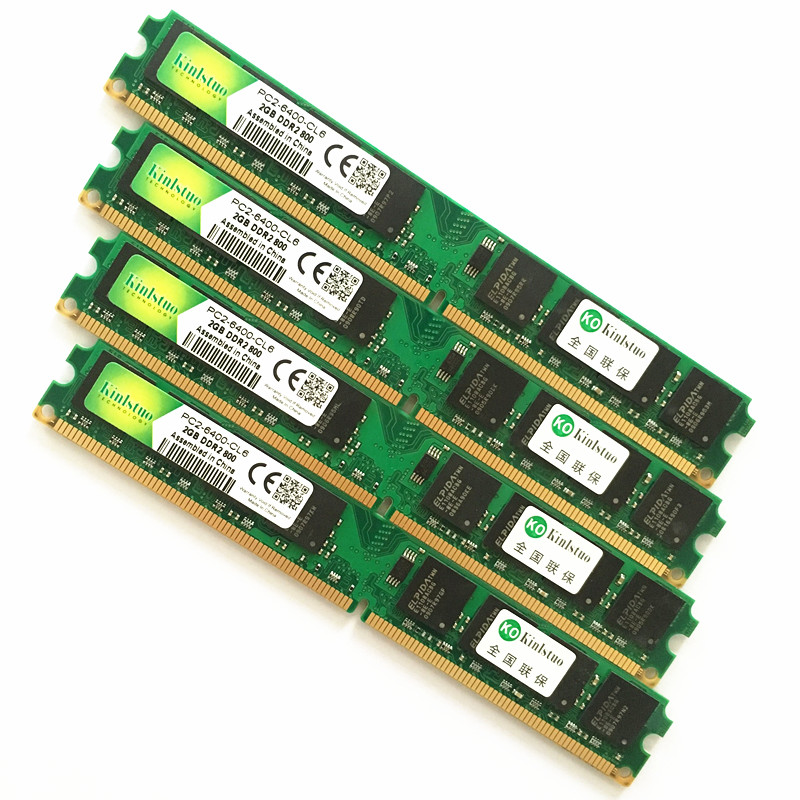 For INTEL&AMD Desktop DDR2 533 667 800 Mhz - 1Gb 2Gb 4Gb / Memoria Ram Ddr2 4Gb 800Mhz / Ddr2 4gb Memory PC2 -lifetime Warranty-