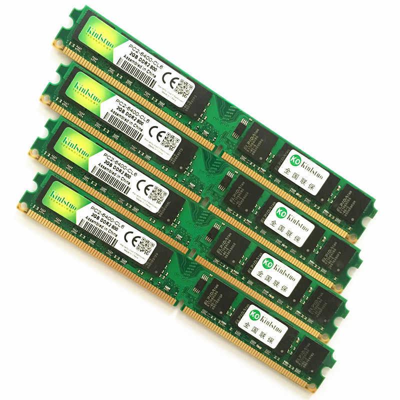 עבור אינטל & AMD שולחן העבודה DDR2 533 667 800 Mhz-1 Gb 2 Gb 4 Gb/memoria ddr2 4 Gb 800 Mhz/ddr2 4 gb זיכרון PC2-אחריות לכל החיים-
