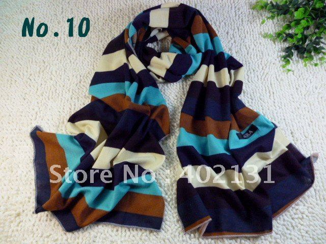 2012 Newest design, 180*50cm striped color fashion shawls/scarf/scarves, free shipping selling! D200