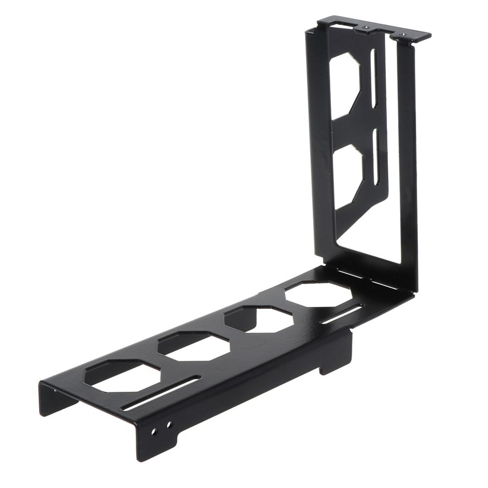 DIY Metal Graphics Card Bracket Riser Fixed Vertical ATX Case PCI-E 16x X16 Internal Brackets Holder Stent Stand