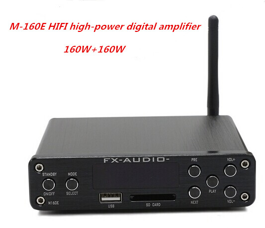 M-160E DC32 5A 160W+160W TDA7498E HIFI high-power digital amplifier support U disk SD card APE lossless Bluetooth 4.0 hifi amplifier digital bluetooth 4 0 audio amp 160w 160w support u disk sd ape fx m 160e white black