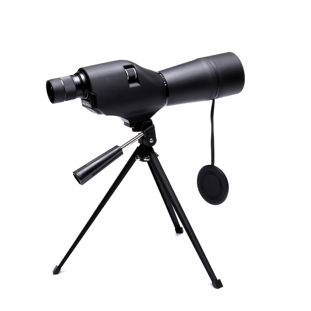 Spike Professional 20-60X60 HD Spotting Scope Telescope Porro Bak4 Zoom Monocular With Tripod For Outdoor Hunting Birdwatching free shipping gomu angled 20 60x60 zoom spotting scopes monocular for birdwatching with tripod cell phone adapter