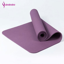 [QUBABOBO] TPE Dedicated Yoga Mat 6mm Pilates Sport Balance Cushion Multifunctional Fitness Mat Gymnastics Colchonete 183cm*61cm цена