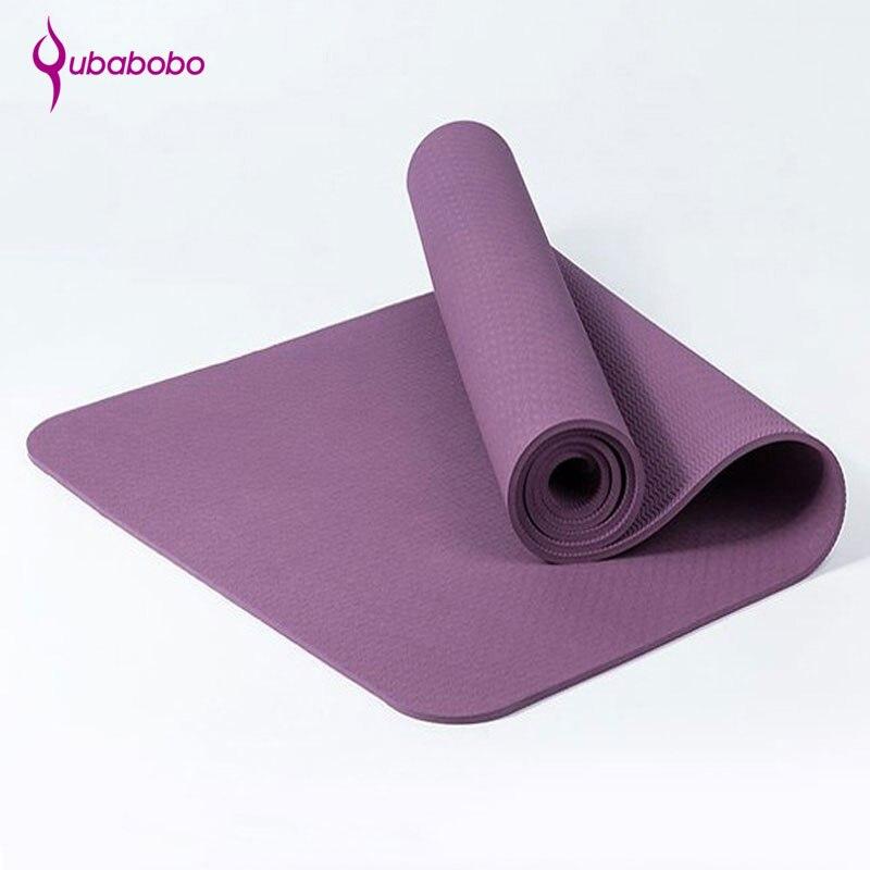 [Qubabobo] TPE специальный коврик для йоги 6 мм Пилатес спорт баланс подушки многофункциональный Фитнес коврик гимнастика colchonete 183 см * 61 см